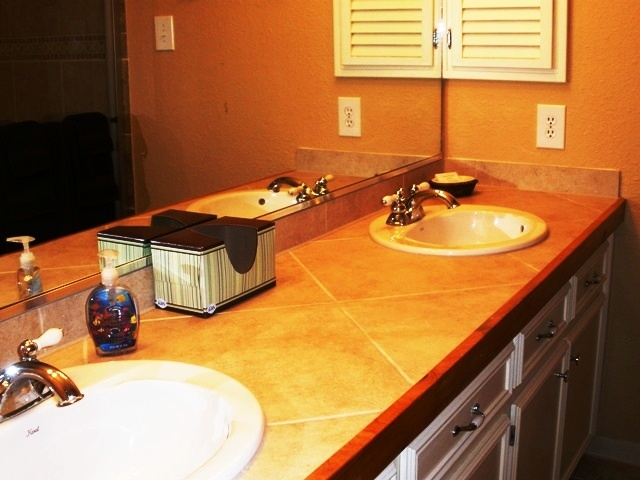 Double Vanity for the Master On Suite